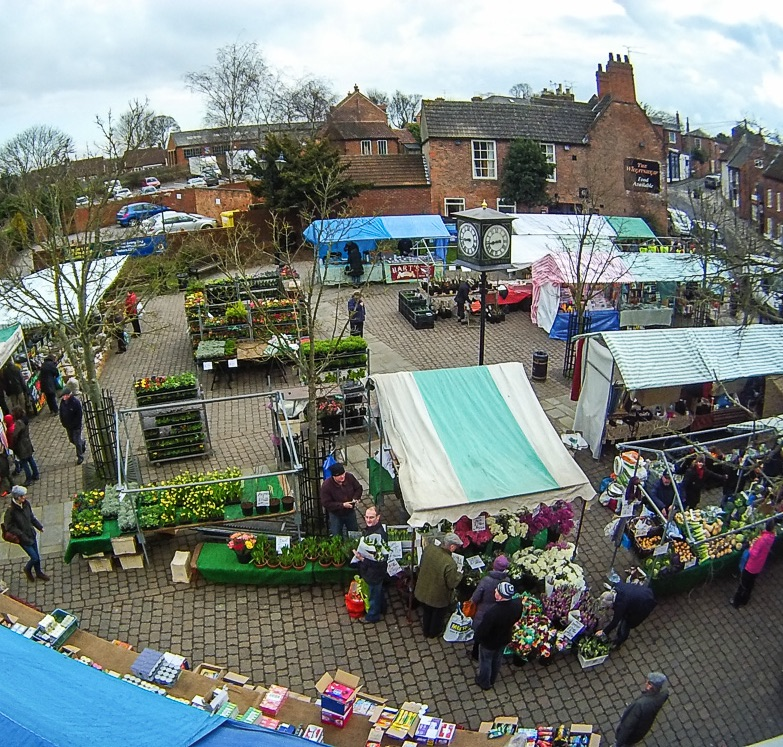 The Market Square where the specialised themed Southwell Sunday Markets will take place